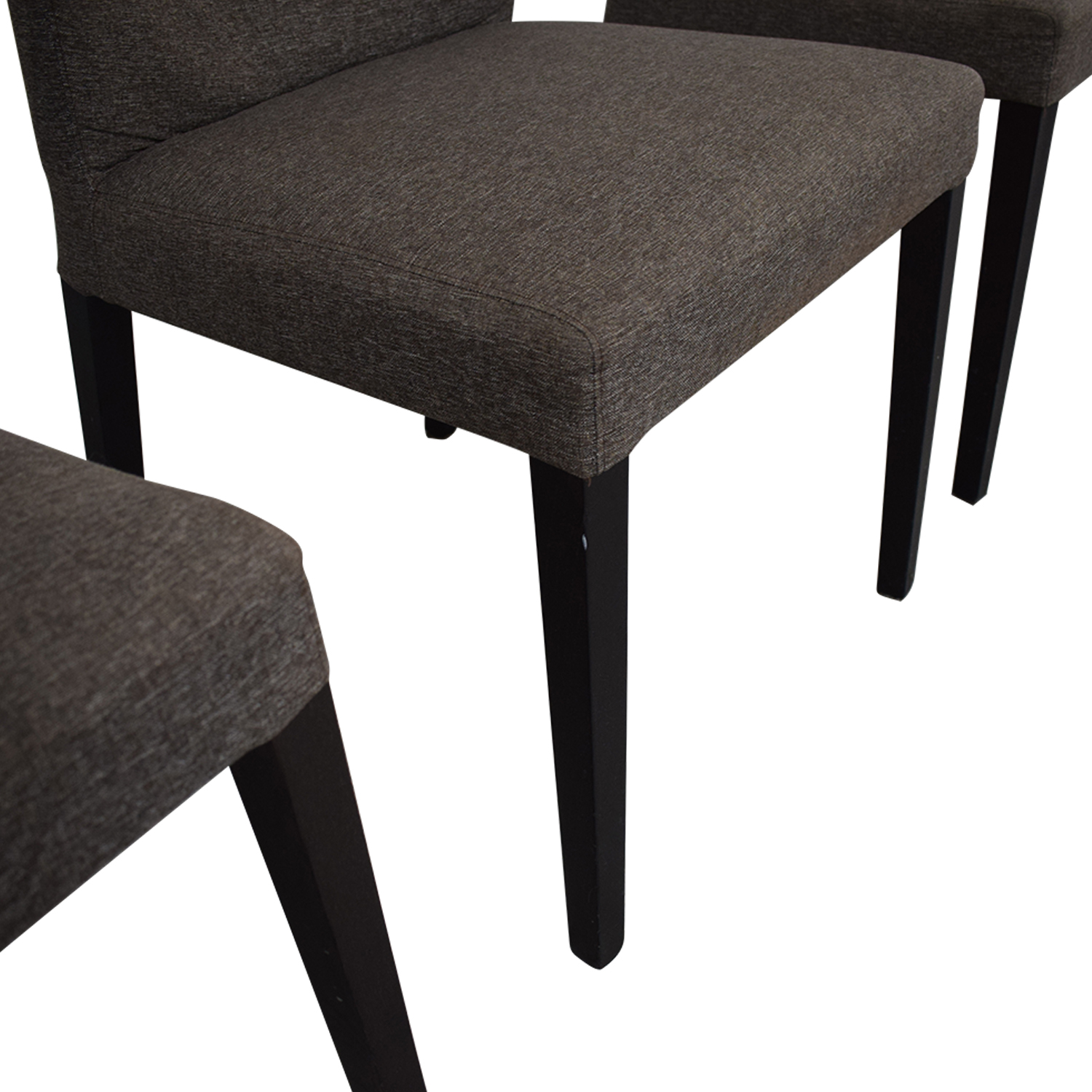 Heal's of London Heals of London Habitat Grey Upholstered Dining Chairs nj