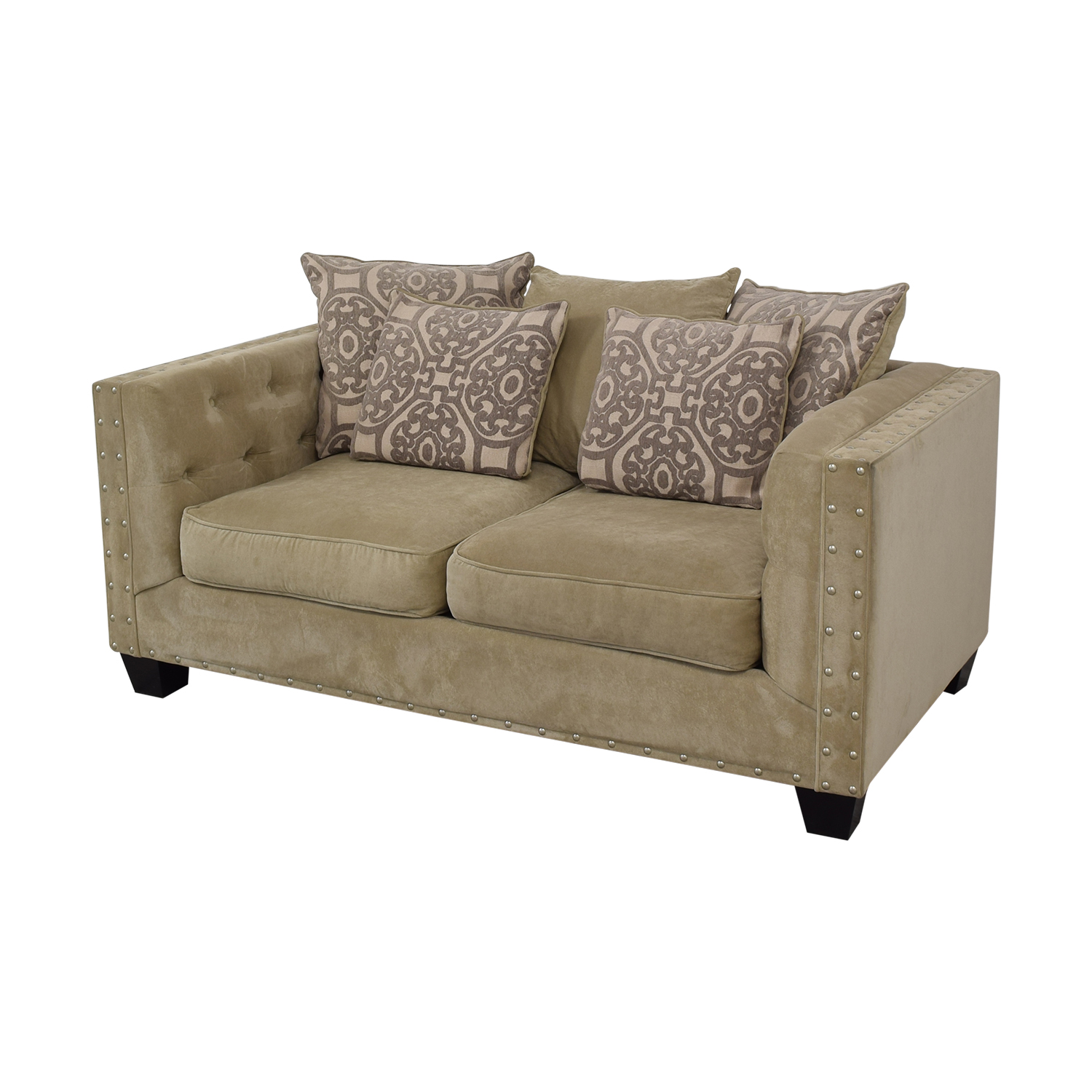 shop Cindy Crawford Home Calista Microfiber Loveseat Cindy Crawford Home Loveseats
