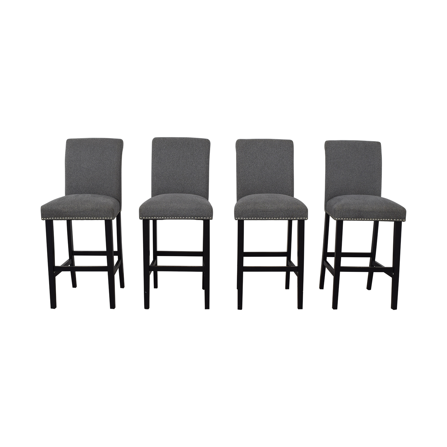 shop  Grey Nailhead Upholstered Counter Stools online