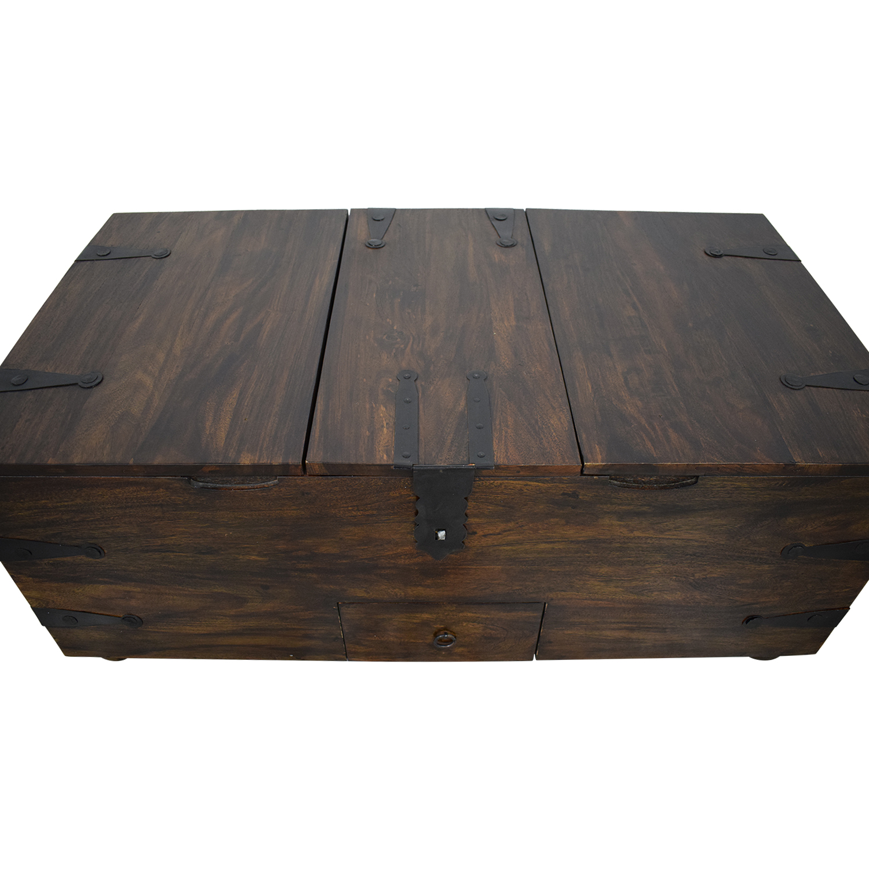Crate & Barrel Crate & Barrel Rectangular Trunk or Coffee Table nj