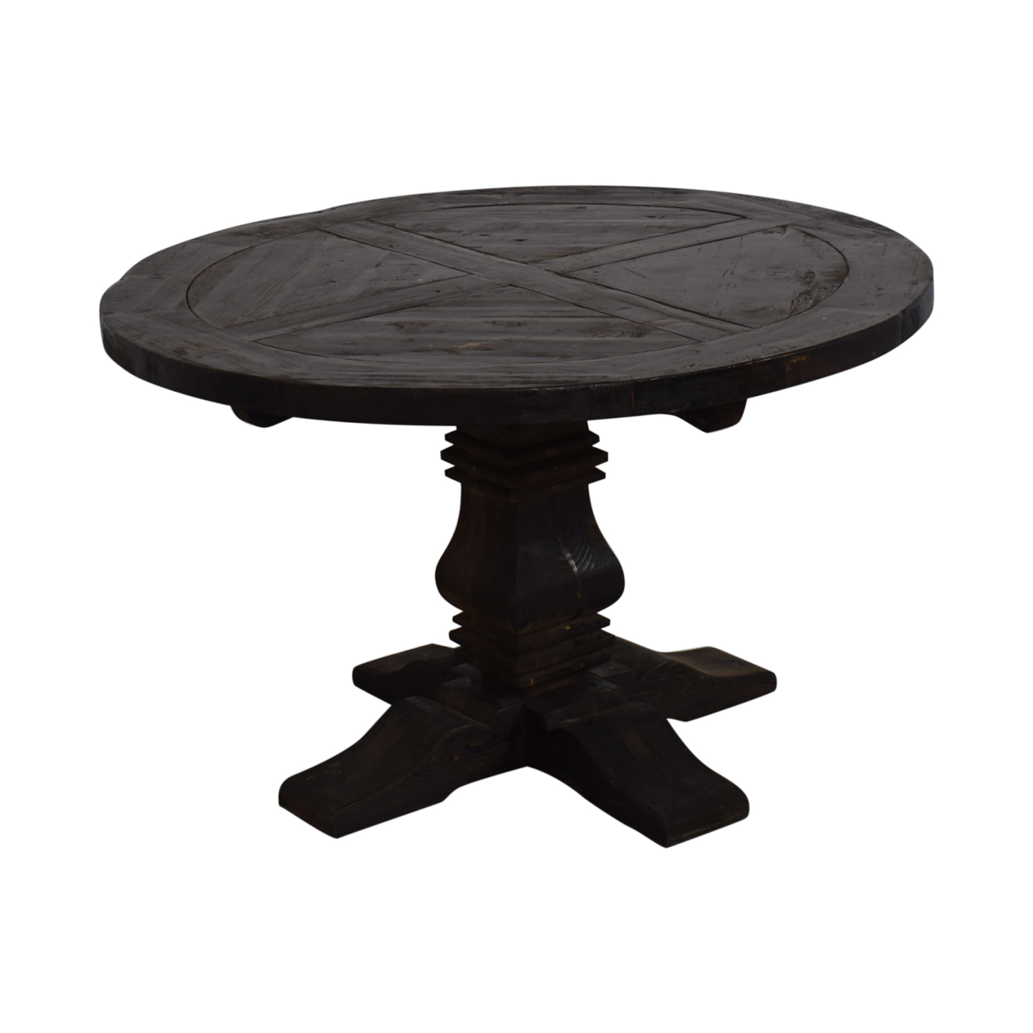 shop Restoration Hardware Restoration Hardware Round Salvaged Wood Distressed Trestle Table online