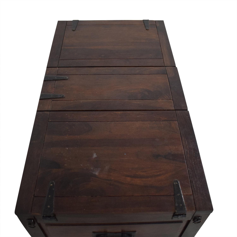 Crate & Barrel Crate & Barrel Coffee Table with Storage dark brown