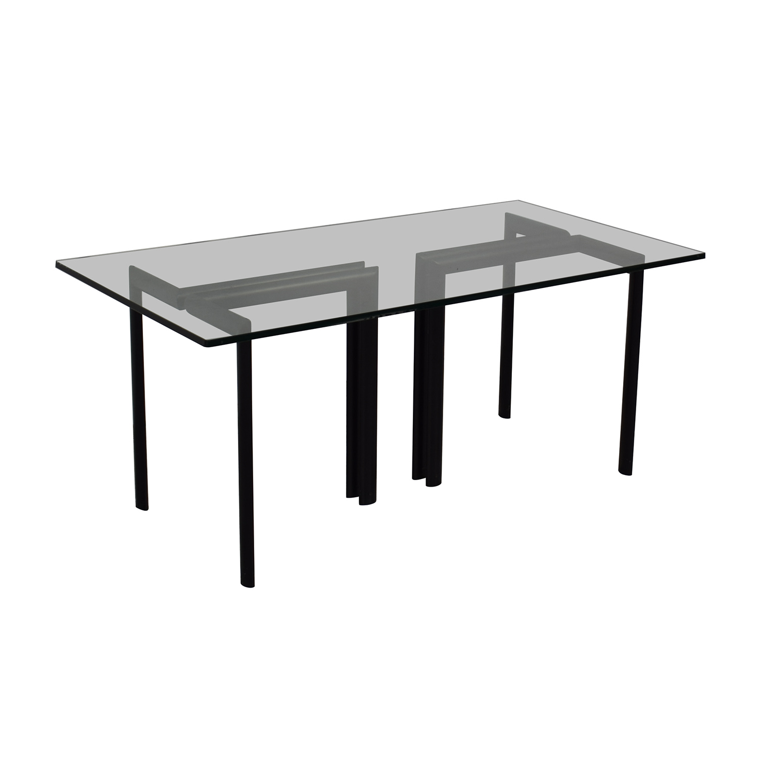 Glass Dining Room Table black/glass