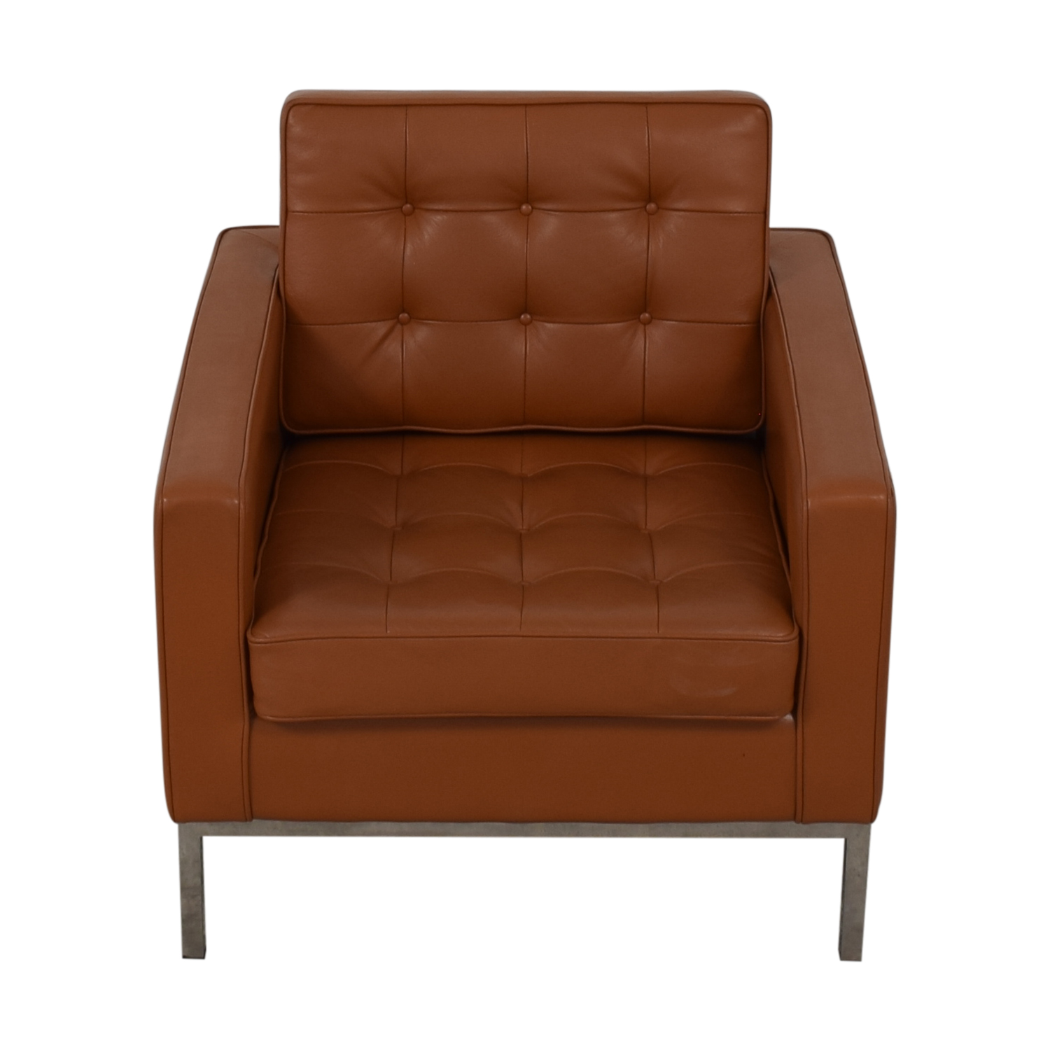 Kardiel Brown Leather Chair / Accent Chairs