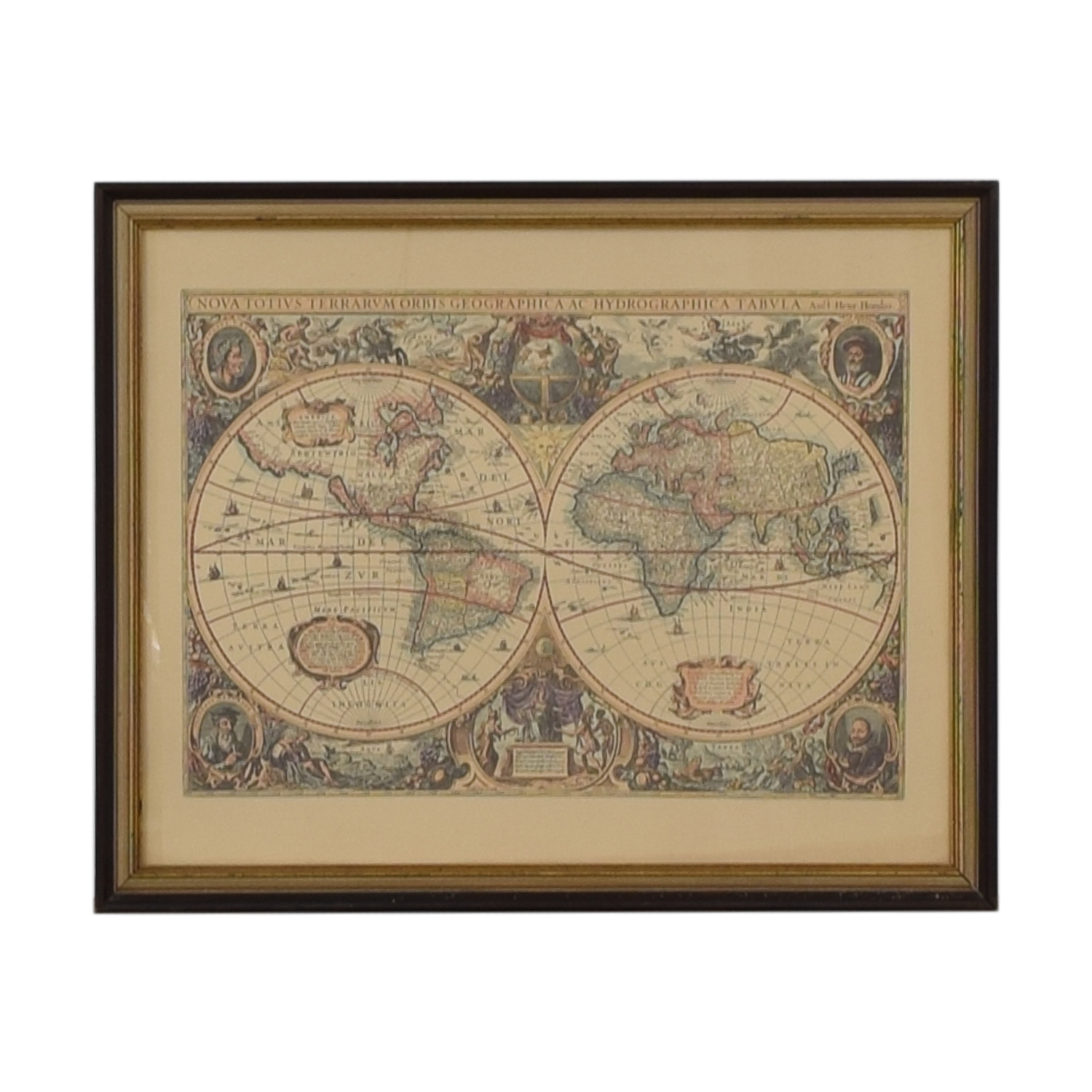 buy Framed Conduis Antique World Map