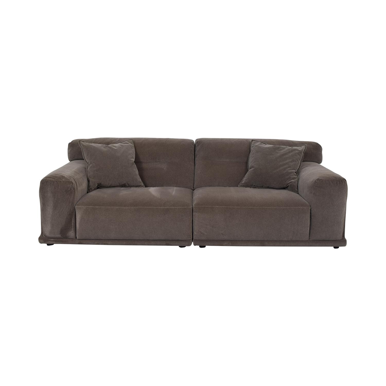 Natuzzi Natuzzi Dorian Grey Sofa Grey
