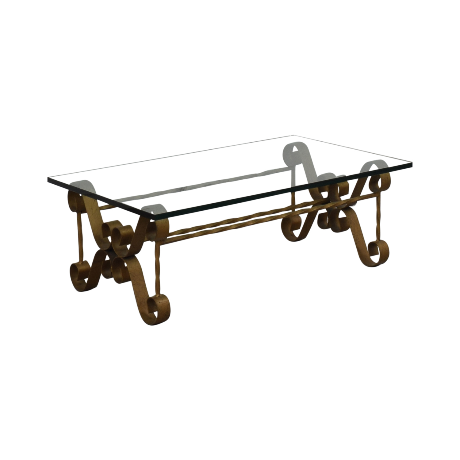 Antique Gilt Iron Coffee Table