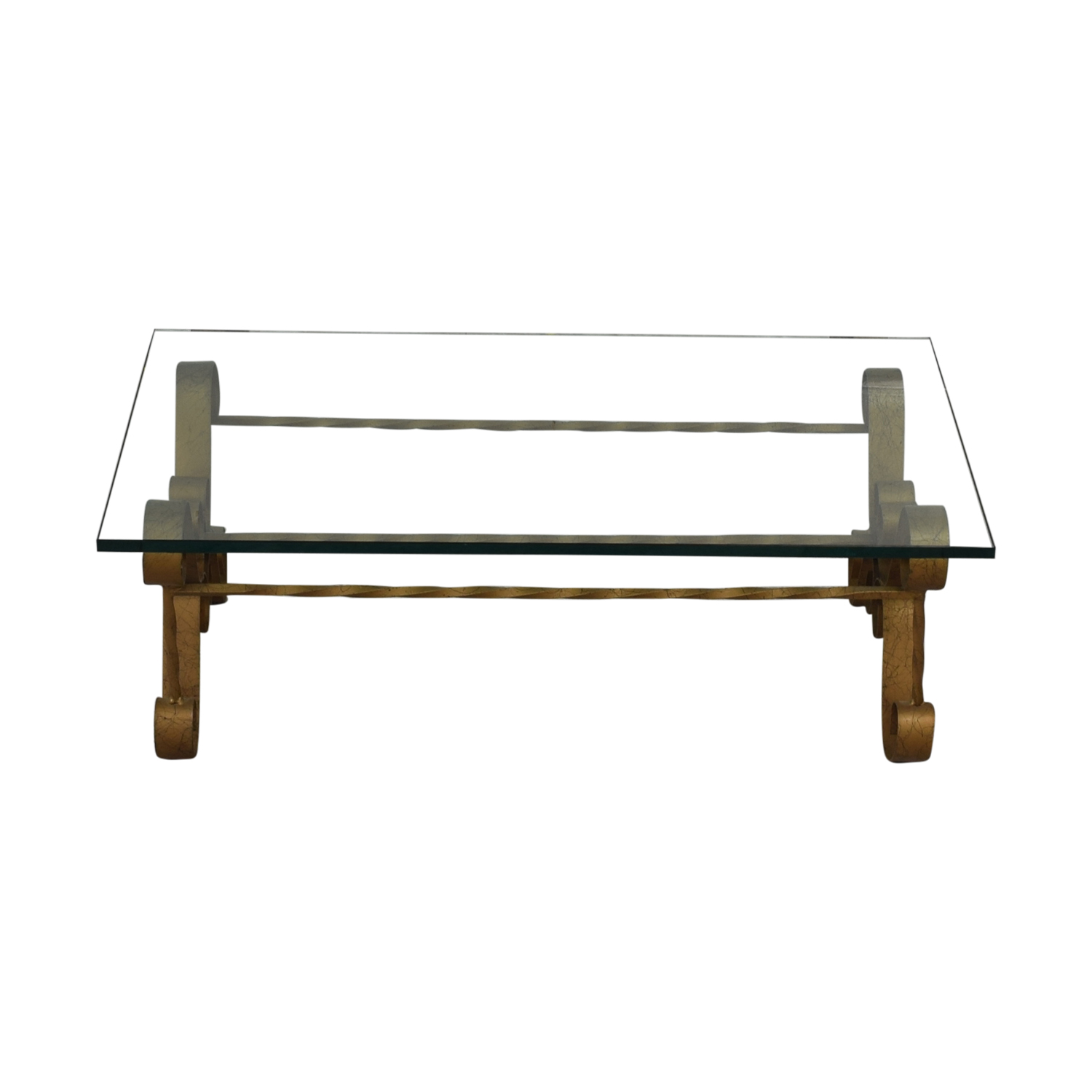 Antique Gilt Iron Coffee Table used