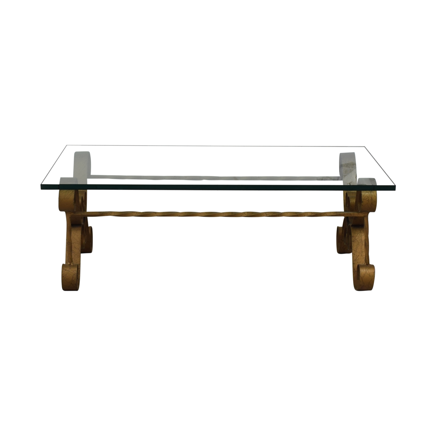 buy Antique Gilt Iron Coffee Table