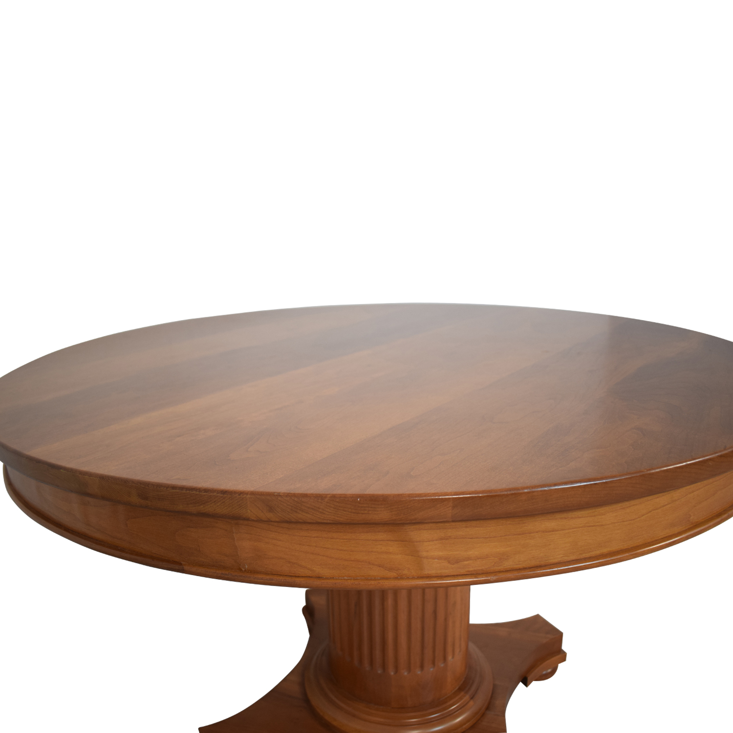 Wood Round Dinner Table BROWN