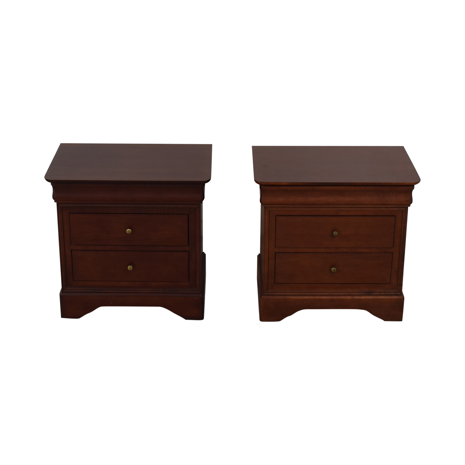 Wooden Two Drawer Night Stands or End Tables second hand