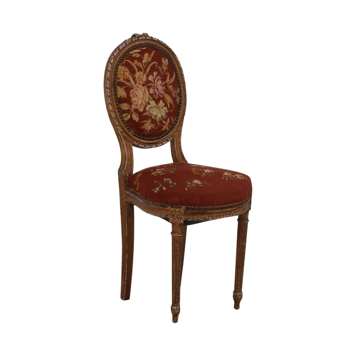 Antique Side Chair red
