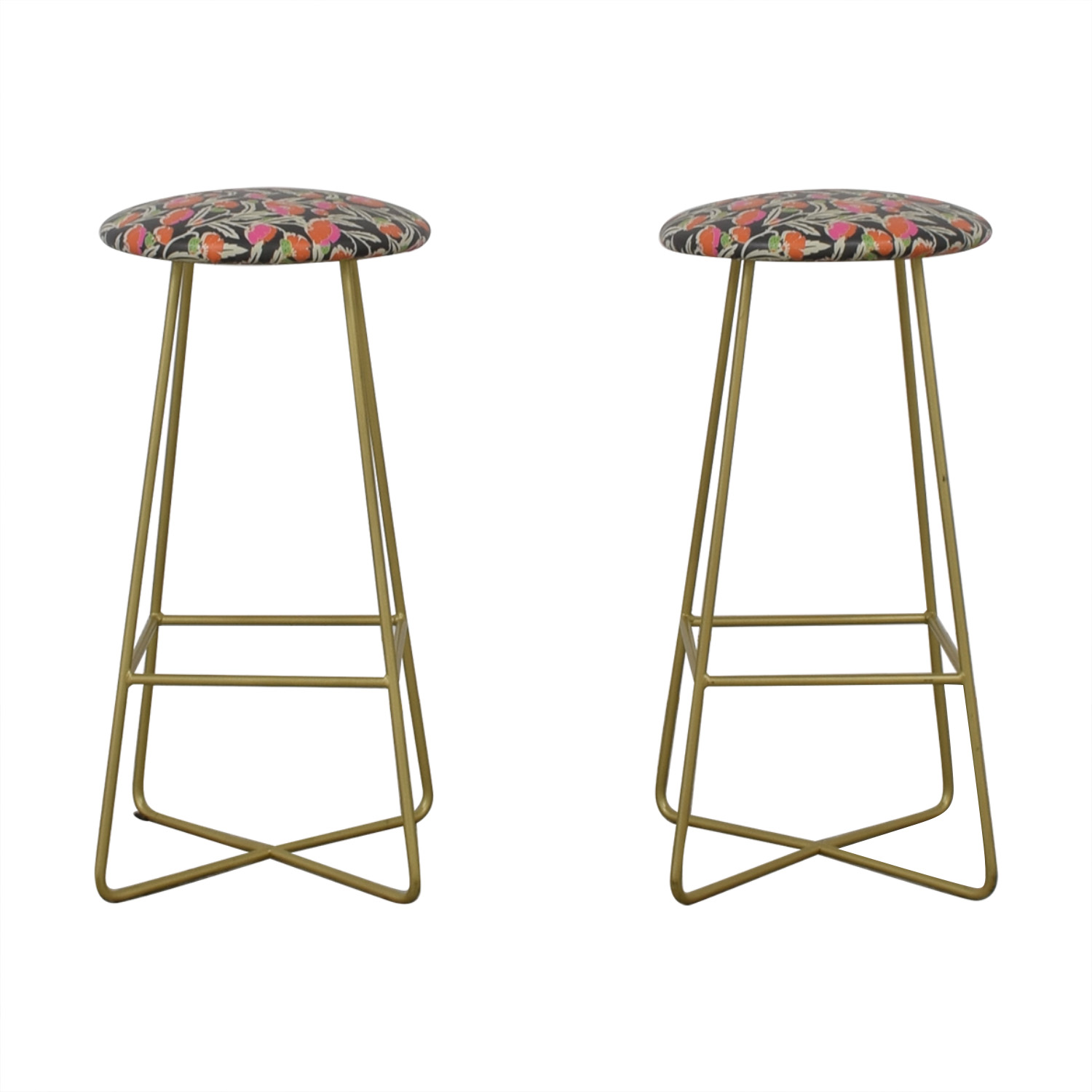 Holli Zollinger Zebrini Floral Bar Stools for sale