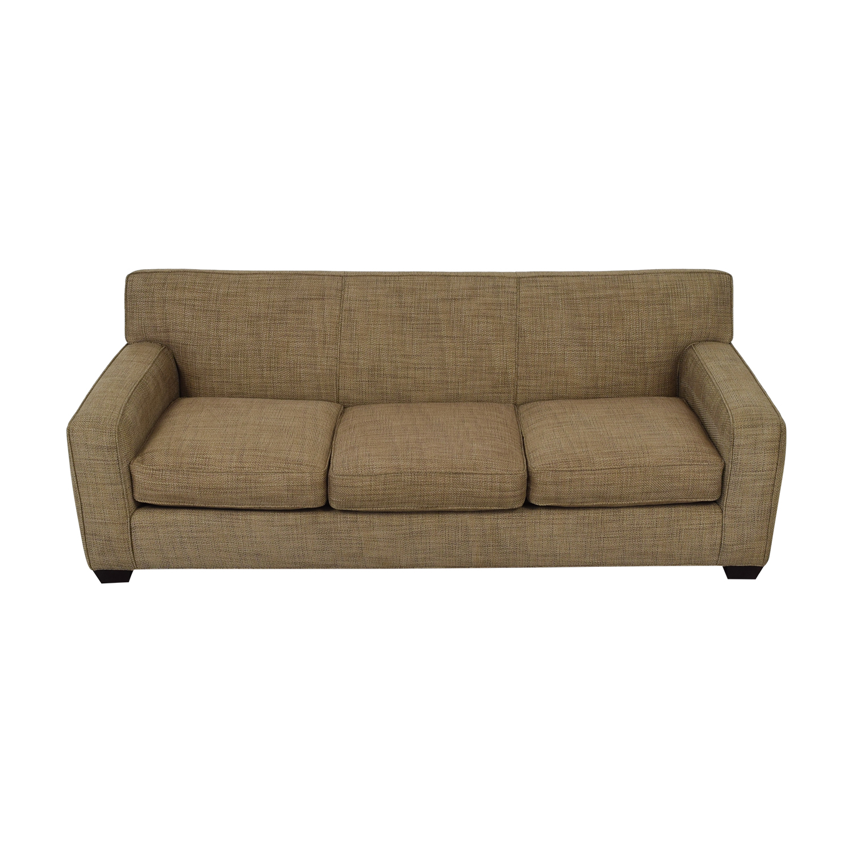 Crate & Barrel Crate & Barrel Three Cushion Sofa brown