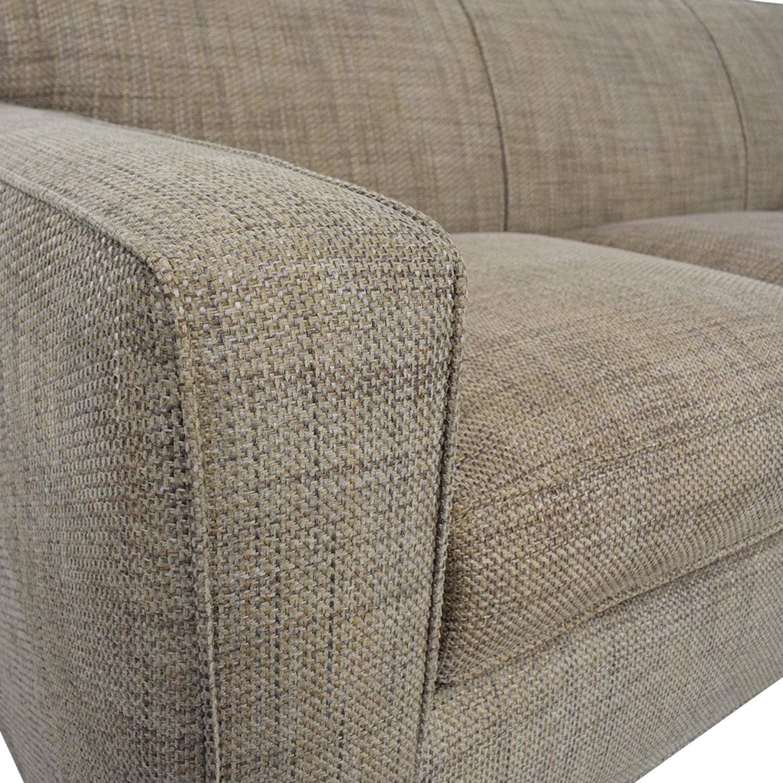 buy Crate & Barrel Three Cushion Sofa Crate & Barrel