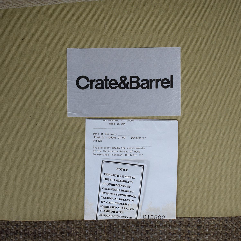 buy Crate & Barrel Three Cushion Sofa Crate & Barrel Classic Sofas