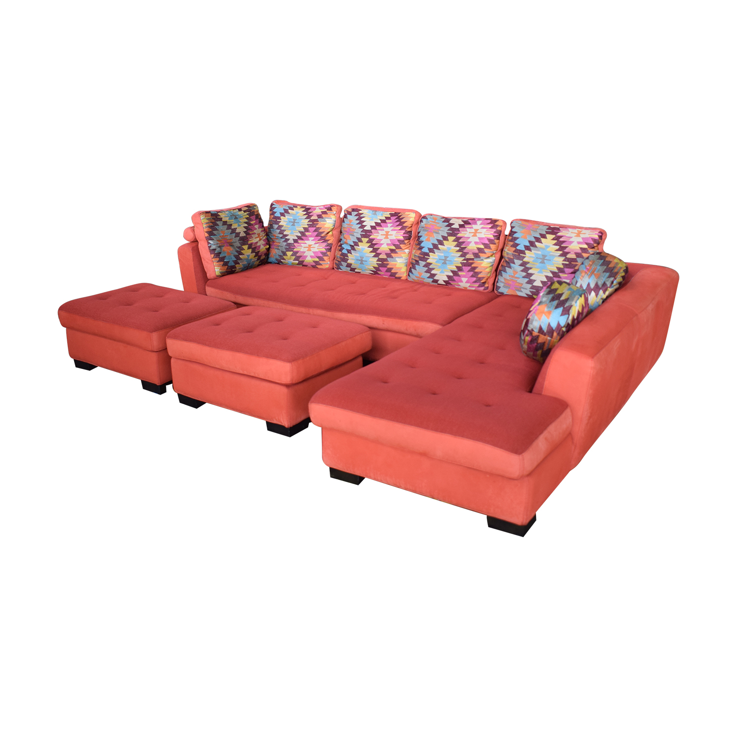 83 Off Maurice Villency Sofa Sectional With Ottomans Sofas
