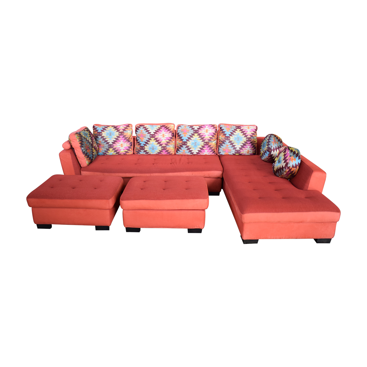 Maurice Villency Maurice Villency Sofa Sectional with Ottomans nj