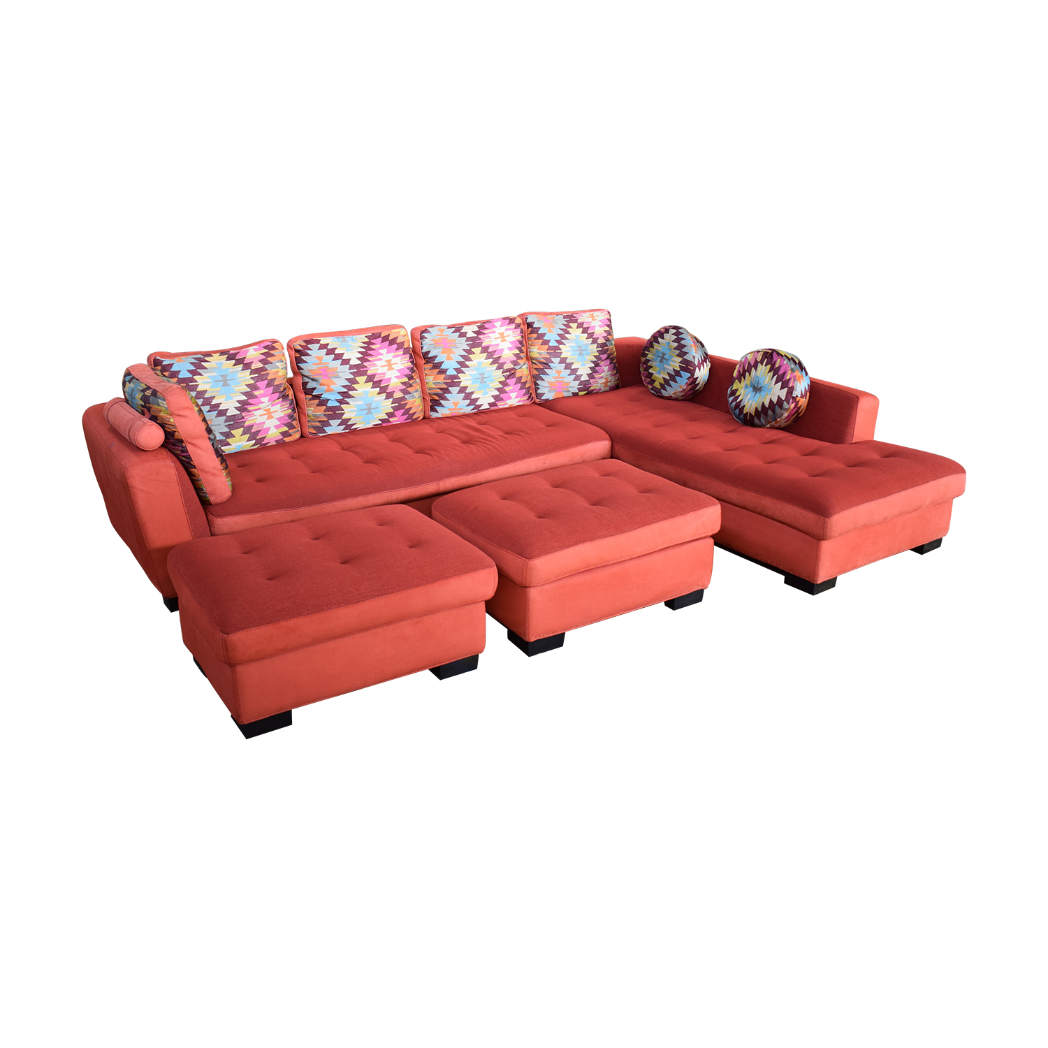 buy Maurice Villency Sofa Sectional with Ottomans Maurice Villency Sectionals