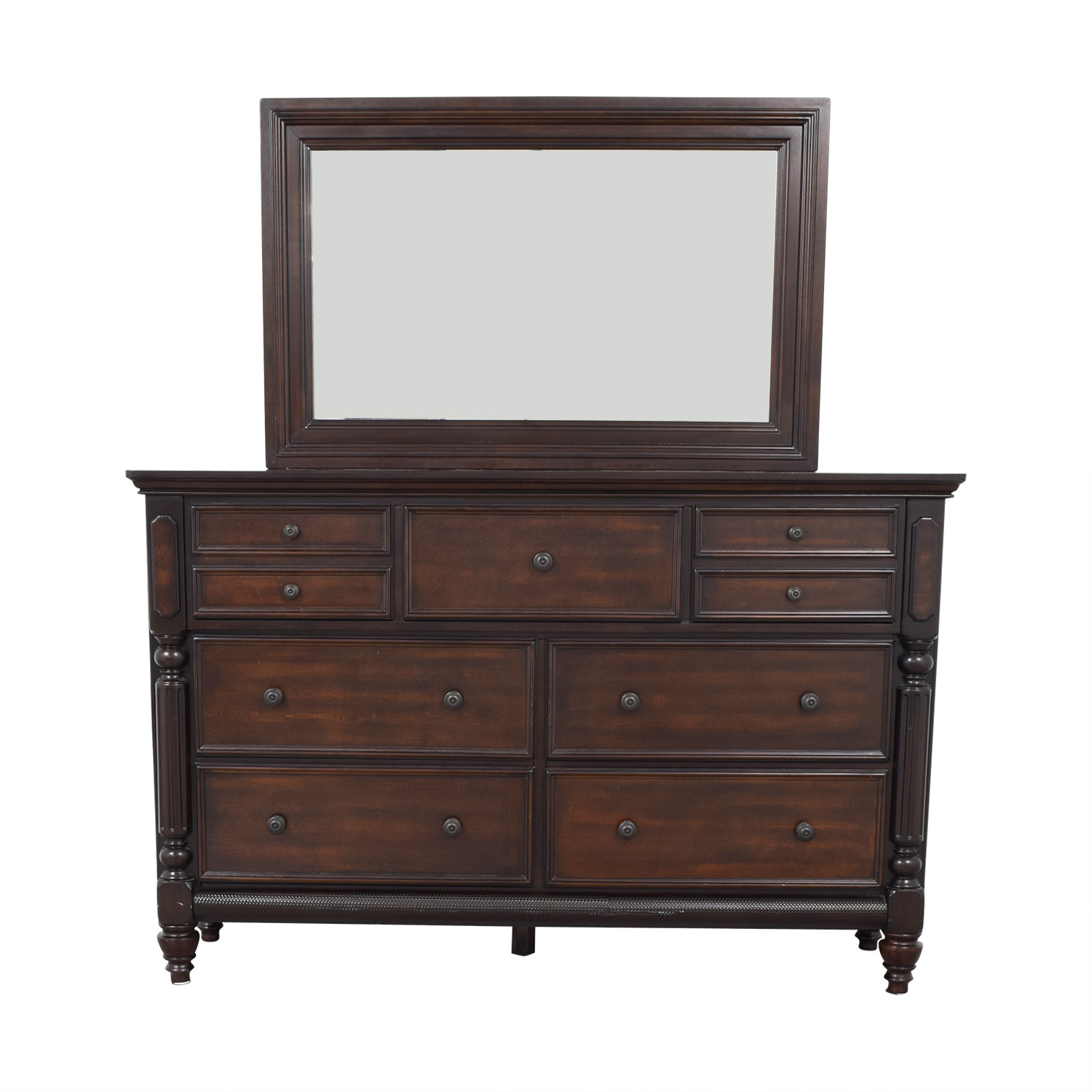 shop Ashley Furniture Key Town Dresser with Mirror Ashley Furniture Storage