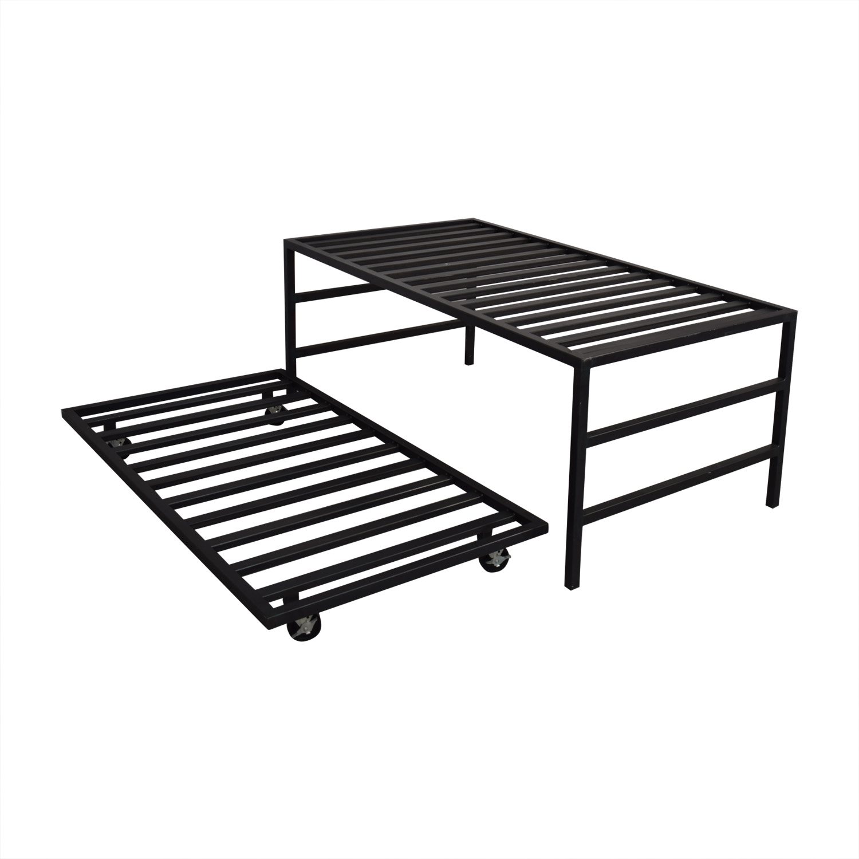 shop Room & Board Steel Lofted Trundle Bed Room & Board Bed Frames