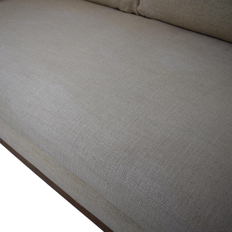 One Kings Lane Cara Linen Sofa Oatmeal / Sofas