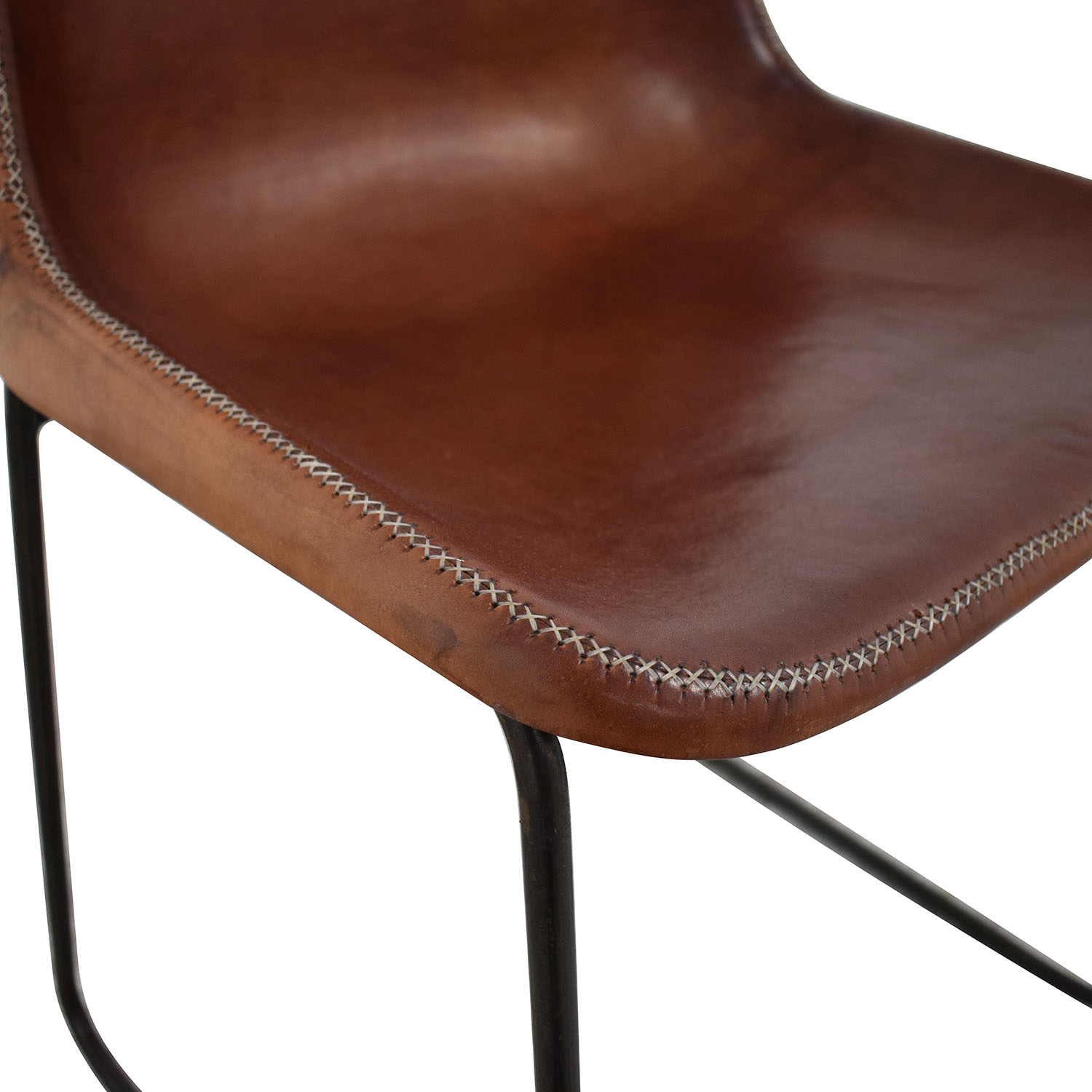 buy ABC Carpet & Home ABC Carpet & Home Giron Brown Leather Chair online