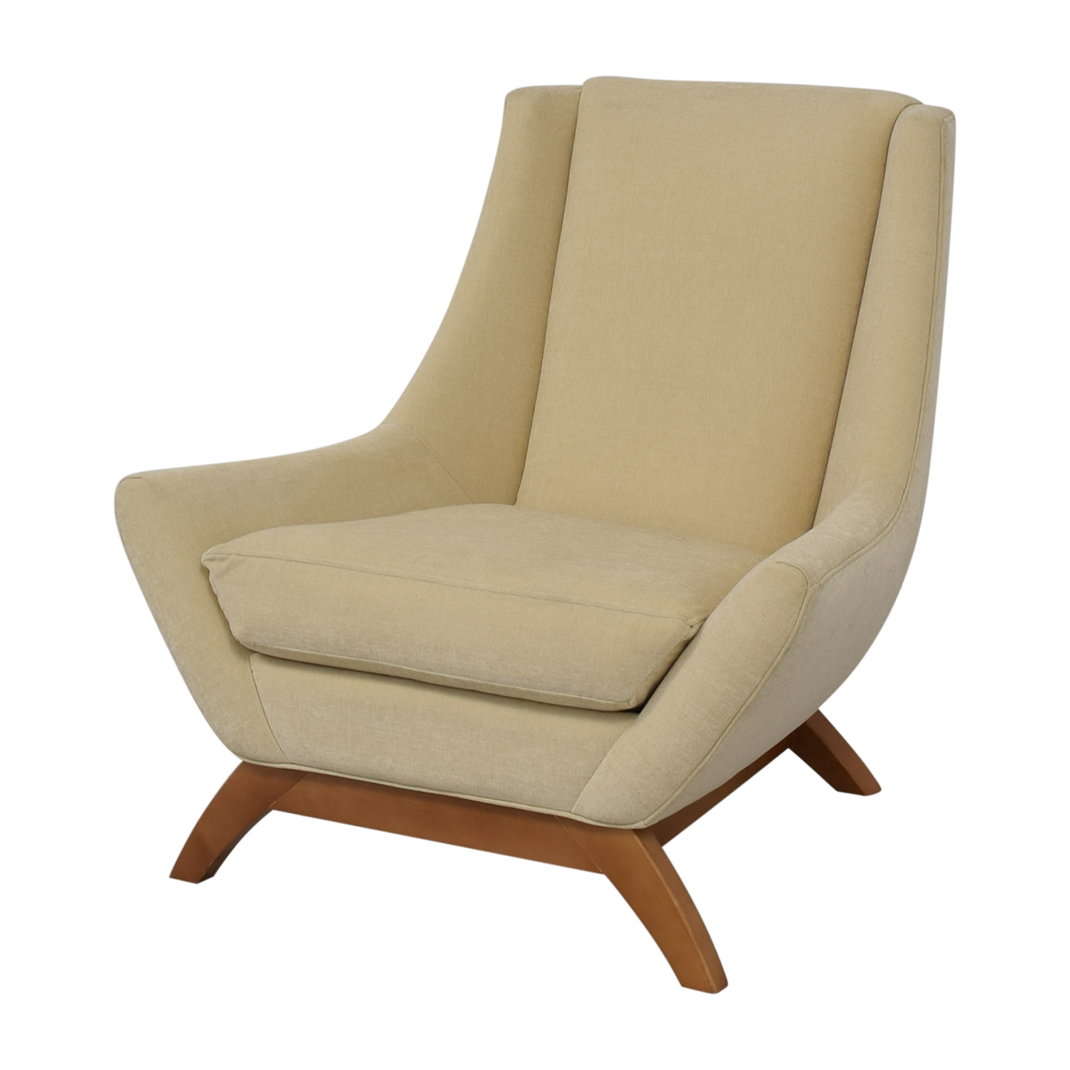 One Kings Lane One Kings Lane Jasper Ribbed Chair cream