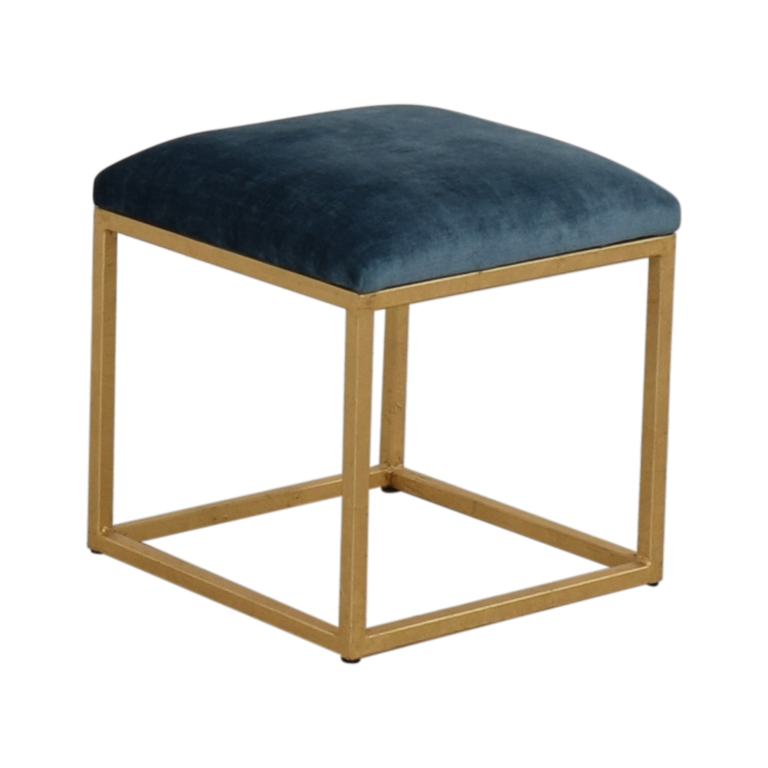 One Kings Lane One Kings Lane Moss Studio Block Velvet Ottoman on sale
