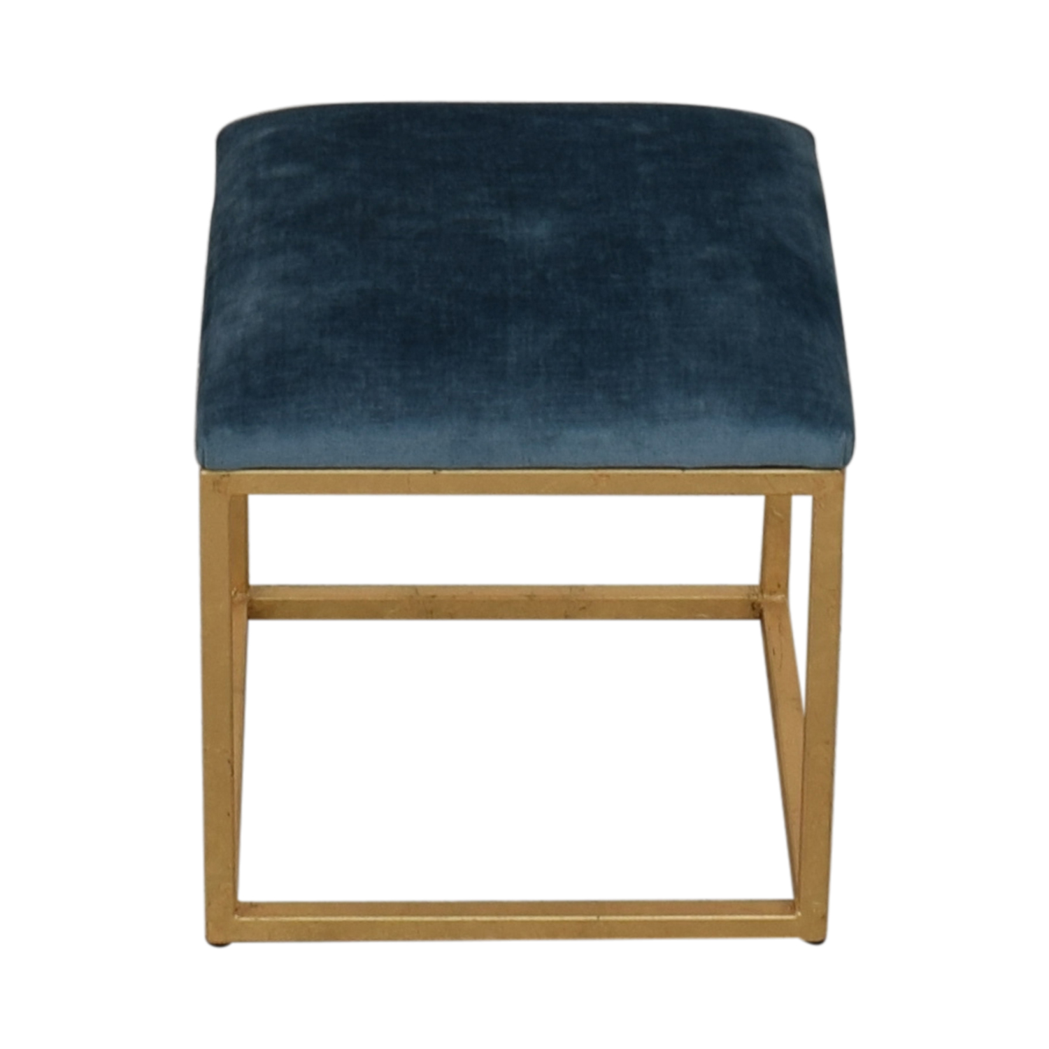 shop One Kings Lane One Kings Lane Moss Studio Block Velvet Ottoman online