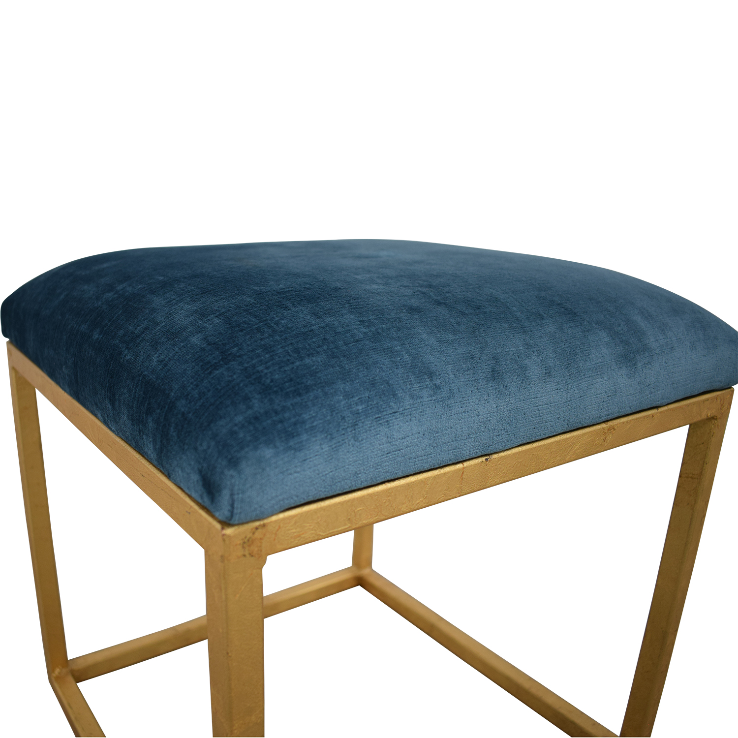 buy One Kings Lane One Kings Lane Moss Studio Block Velvet Ottoman online