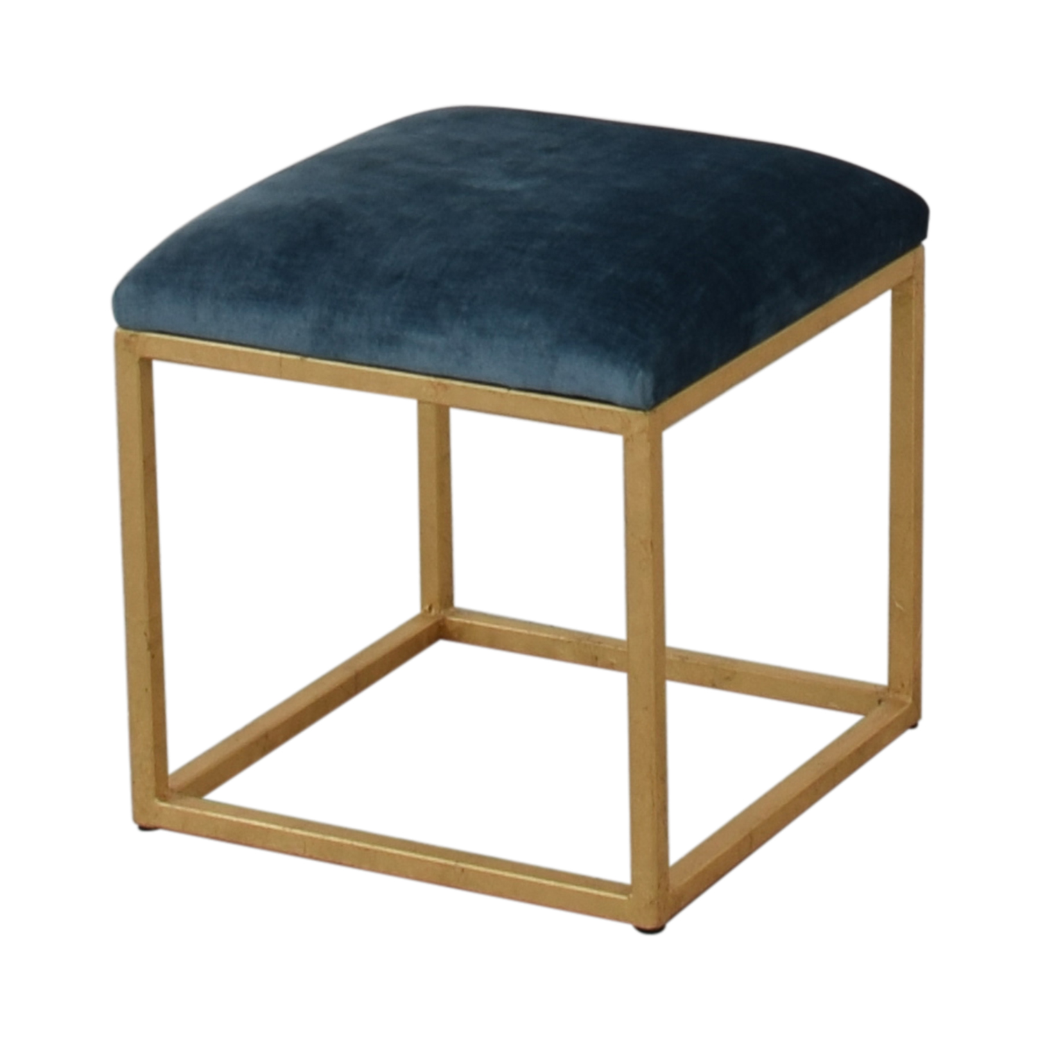 shop One Kings Lane Moss Studio Block Velvet Ottoman One Kings Lane Chairs