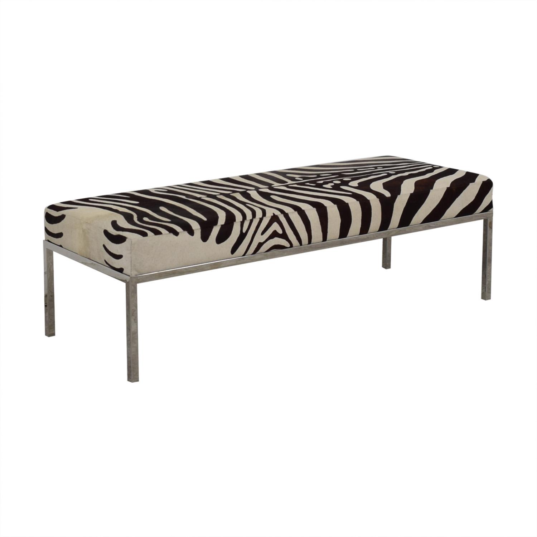 Michael Kors Zebra Print Bench