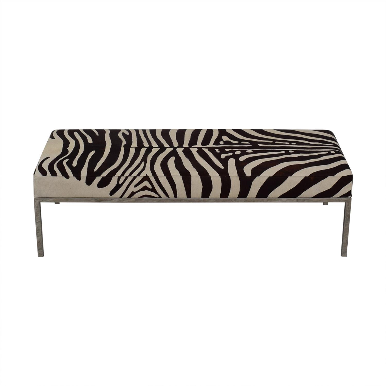 Michael Kors Zebra Print Bench nyc