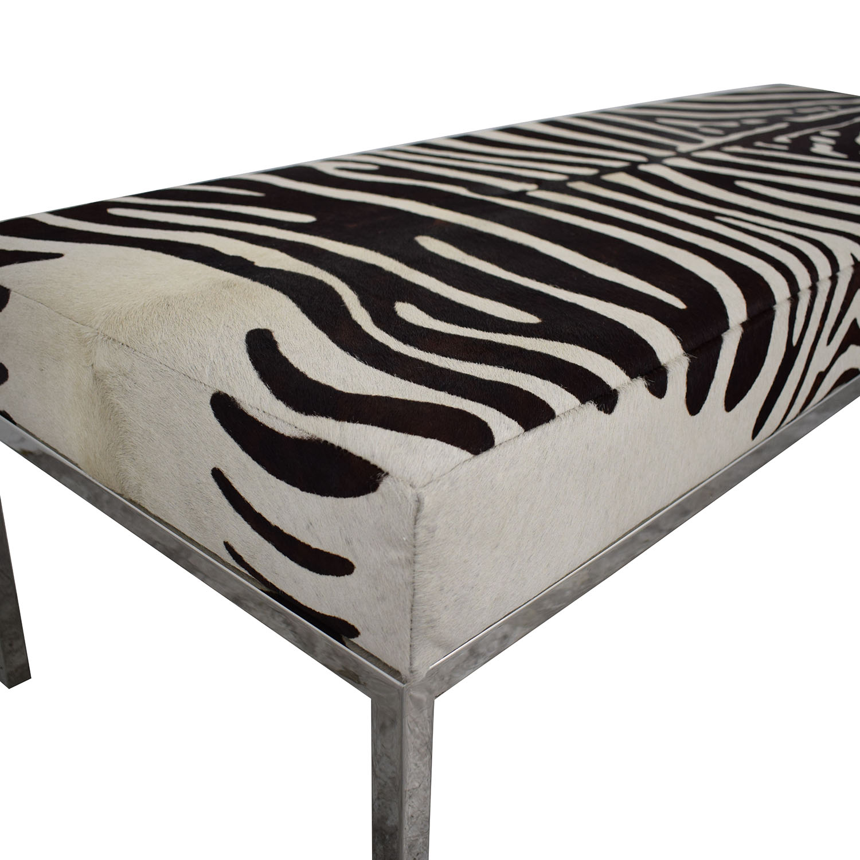 Michael Kors Zebra Print Bench Benches