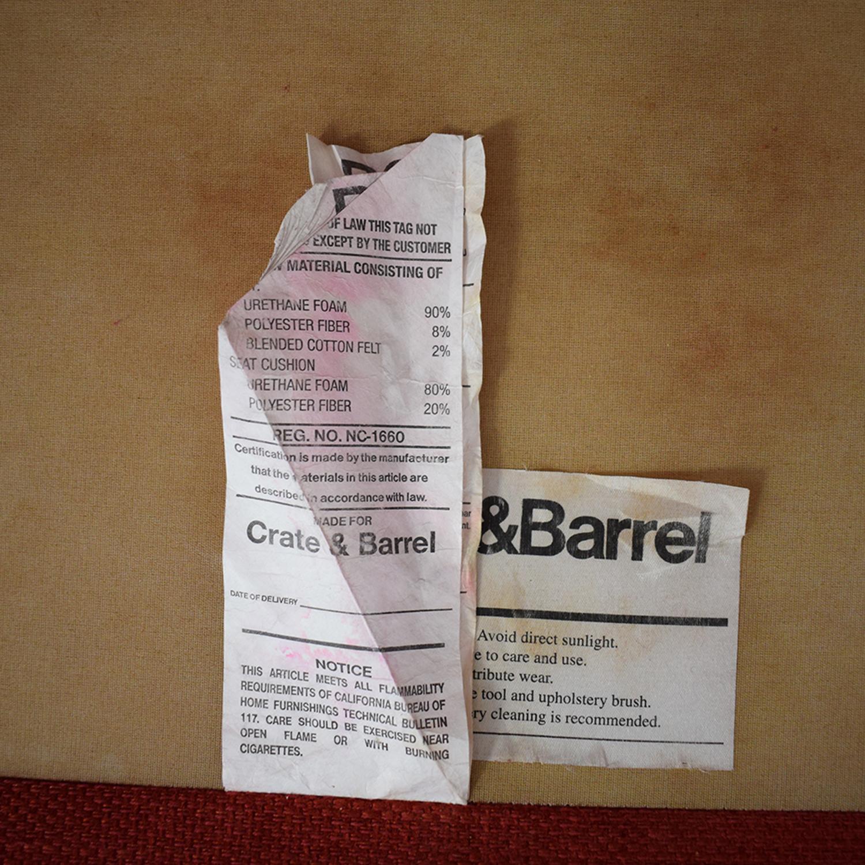 Crate & Barrel Crate  & Barrel Hennessy Sofa dimensions