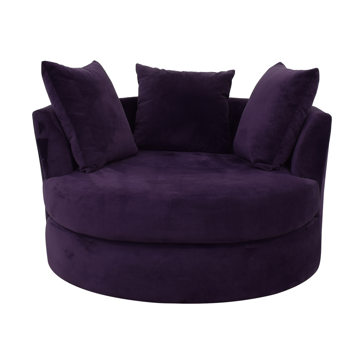 Jonathan Louis Deep Purple Swivel Chair / Accent Chairs