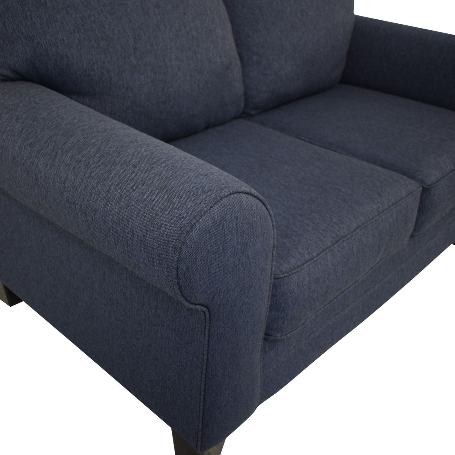 Raymour & Flanigan Raymour & Flanigan McKinley Loveseat dark blue