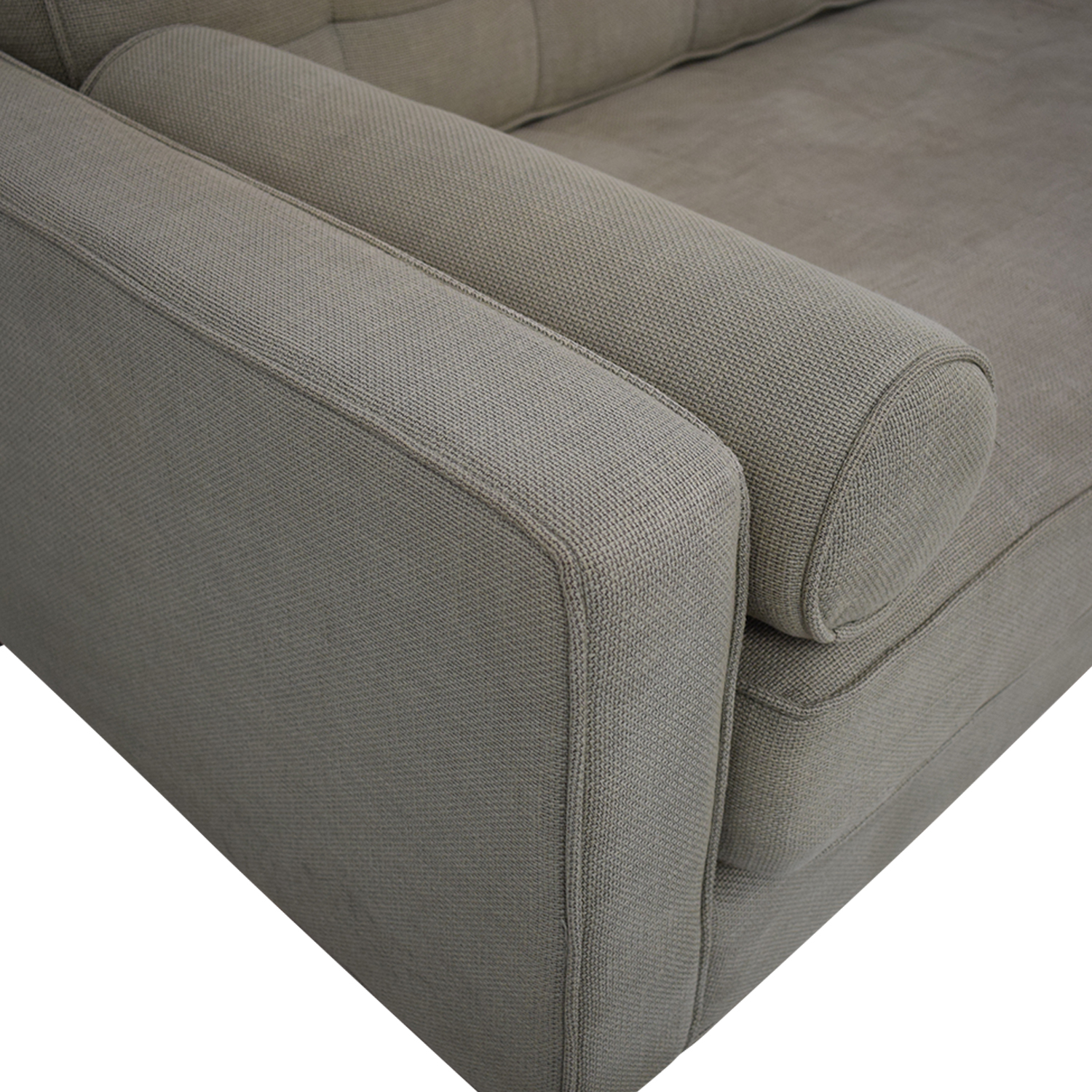 Custom Tufted Tuxedo Sofa dimensions