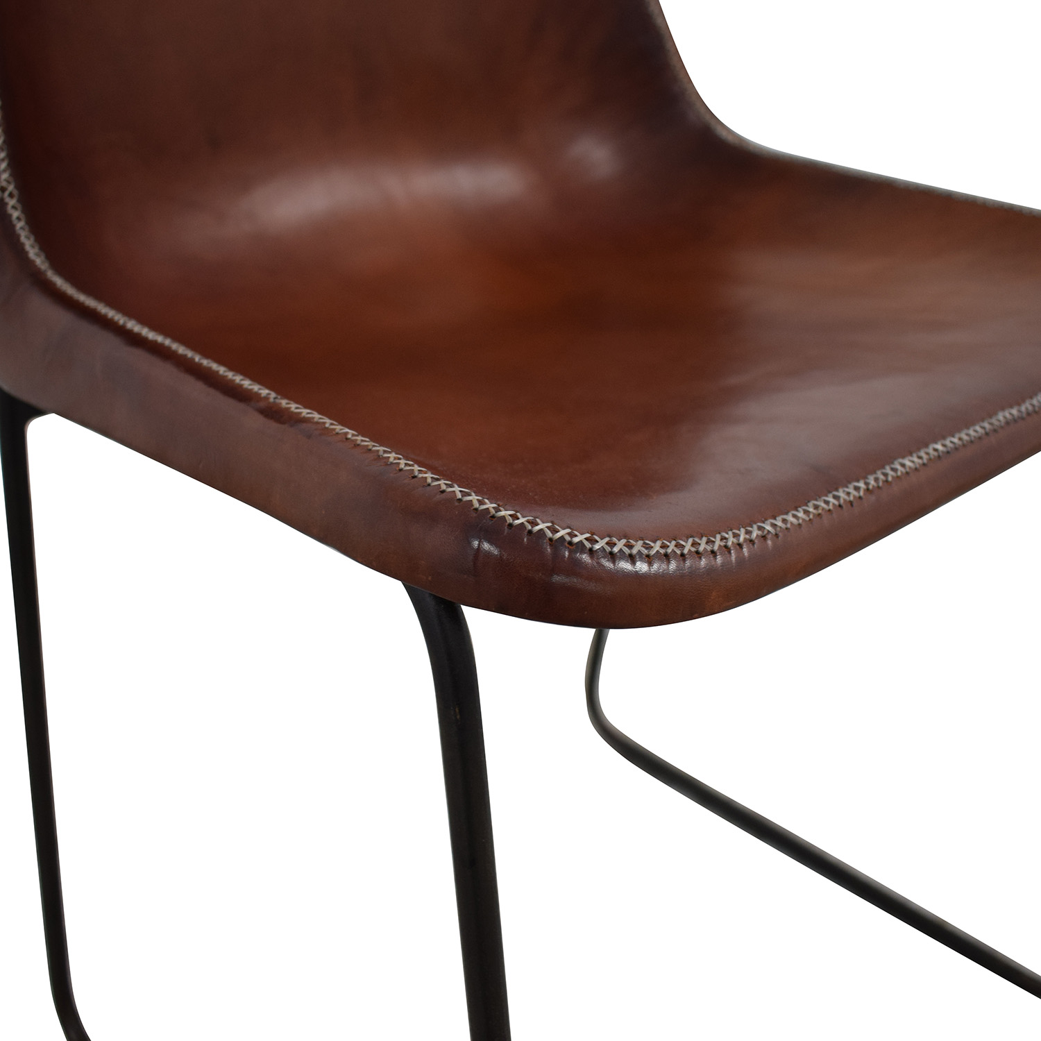 ABC Carpet & Home ABC Carpet & Home Giron Brown Leather Chair