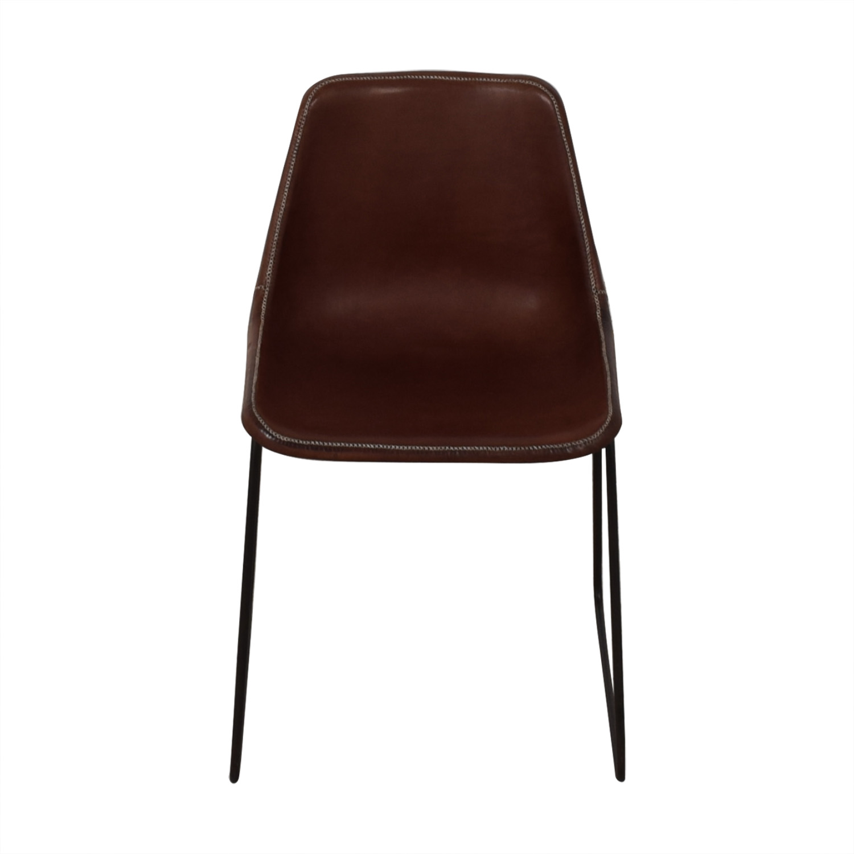 ABC Carpet & Home ABC Carpet & Home Giron Brown Leather Chair Chairs
