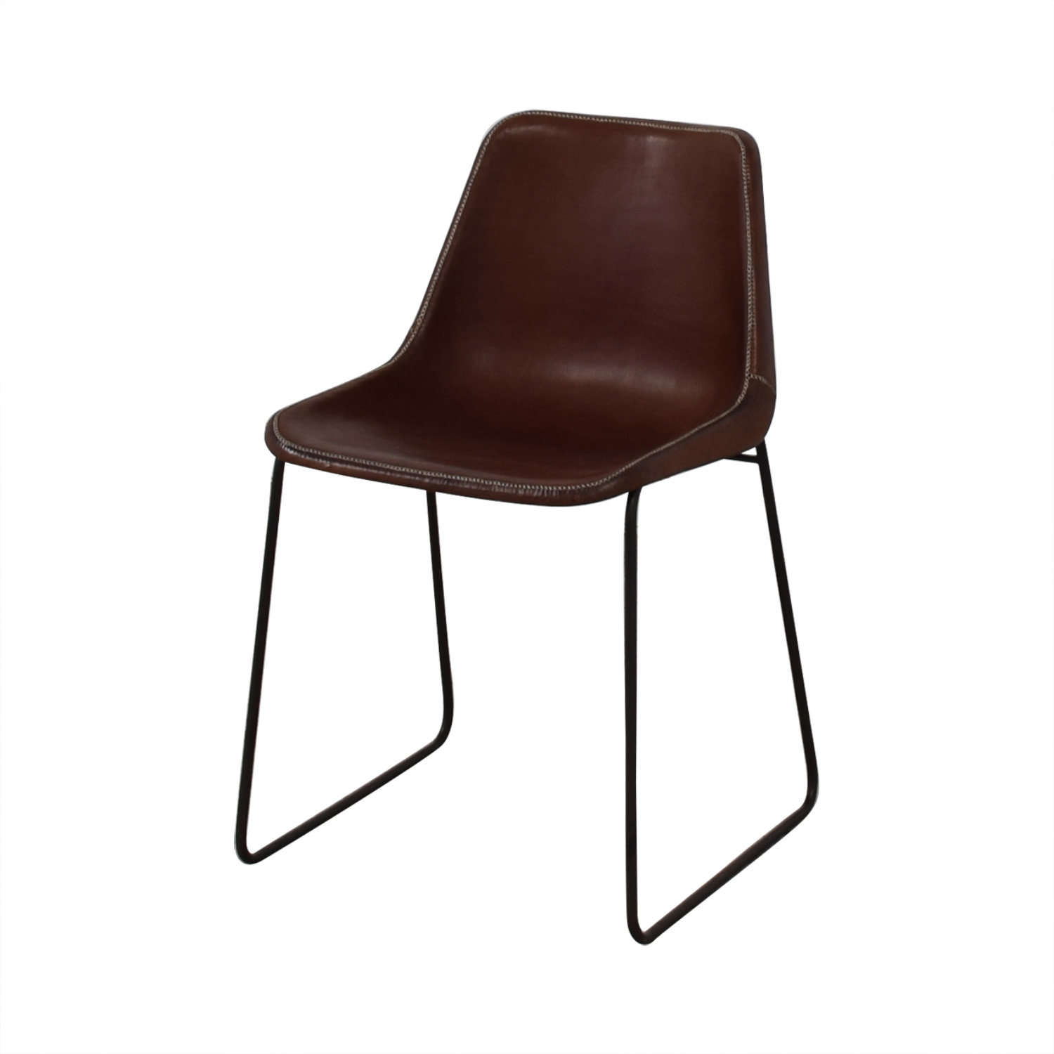 ABC Carpet & Home ABC Carpet & Home Giron Brown Leather Chair on sale
