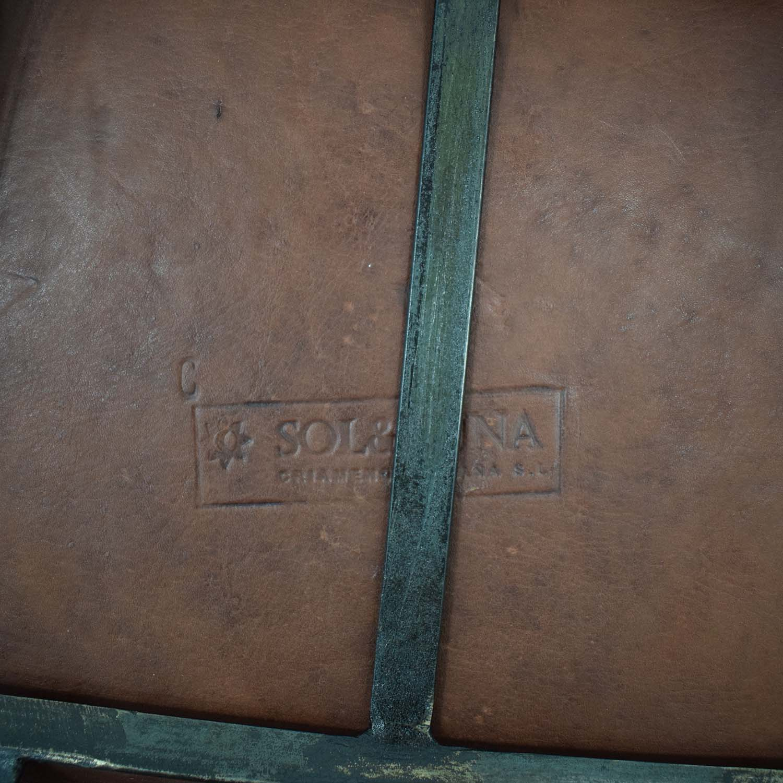 ABC Carpet & Home Giron Brown Leather Chair sale