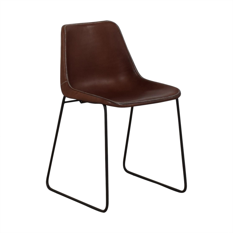 ABC Carpet & Home ABC Carpet & Home Giron Brown Leather Chair nyc