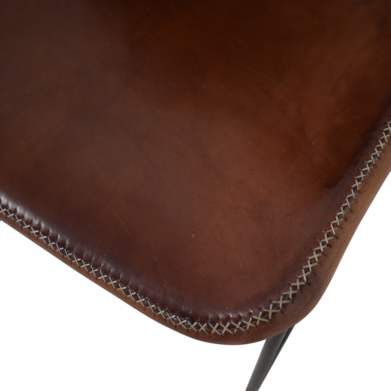ABC Carpet & Home ABC Carpet & Home Giron Brown Leather Chair dimensions