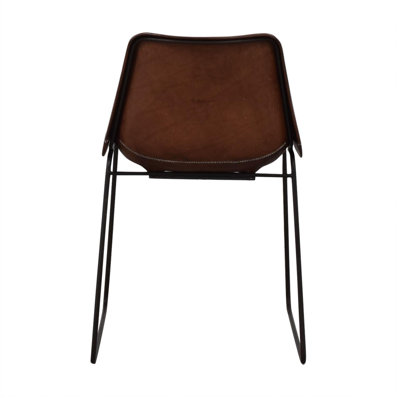 ABC Carpet & Home Giron Brown Leather Chair ABC Carpet & Home