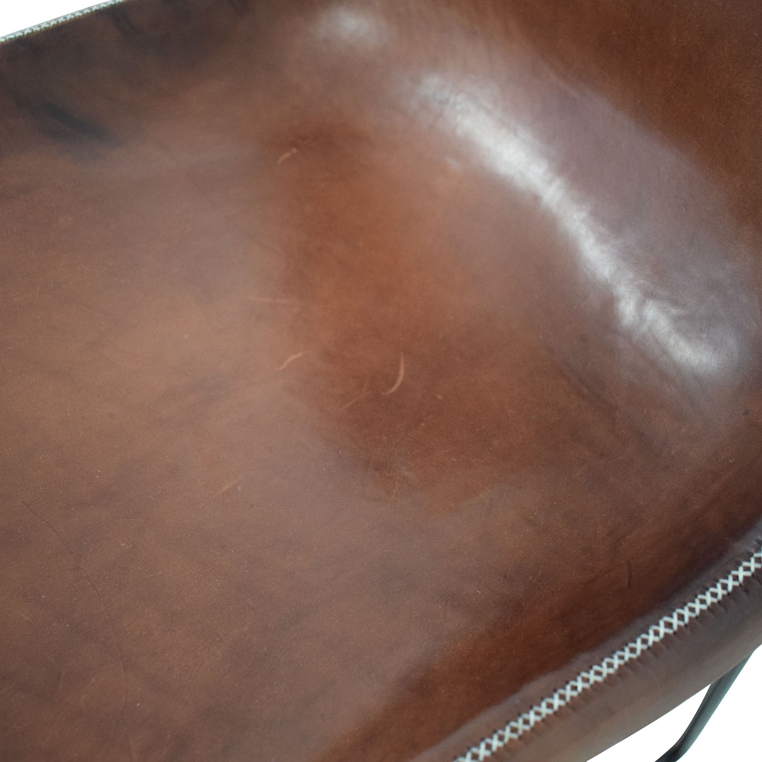 ABC Carpet & Home ABC Carpet & Home Giron Brown Leather Chair used