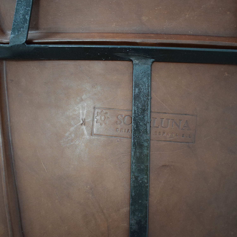 ABC Carpet & Home ABC Carpet & Home Giron Brown Leather Chair discount