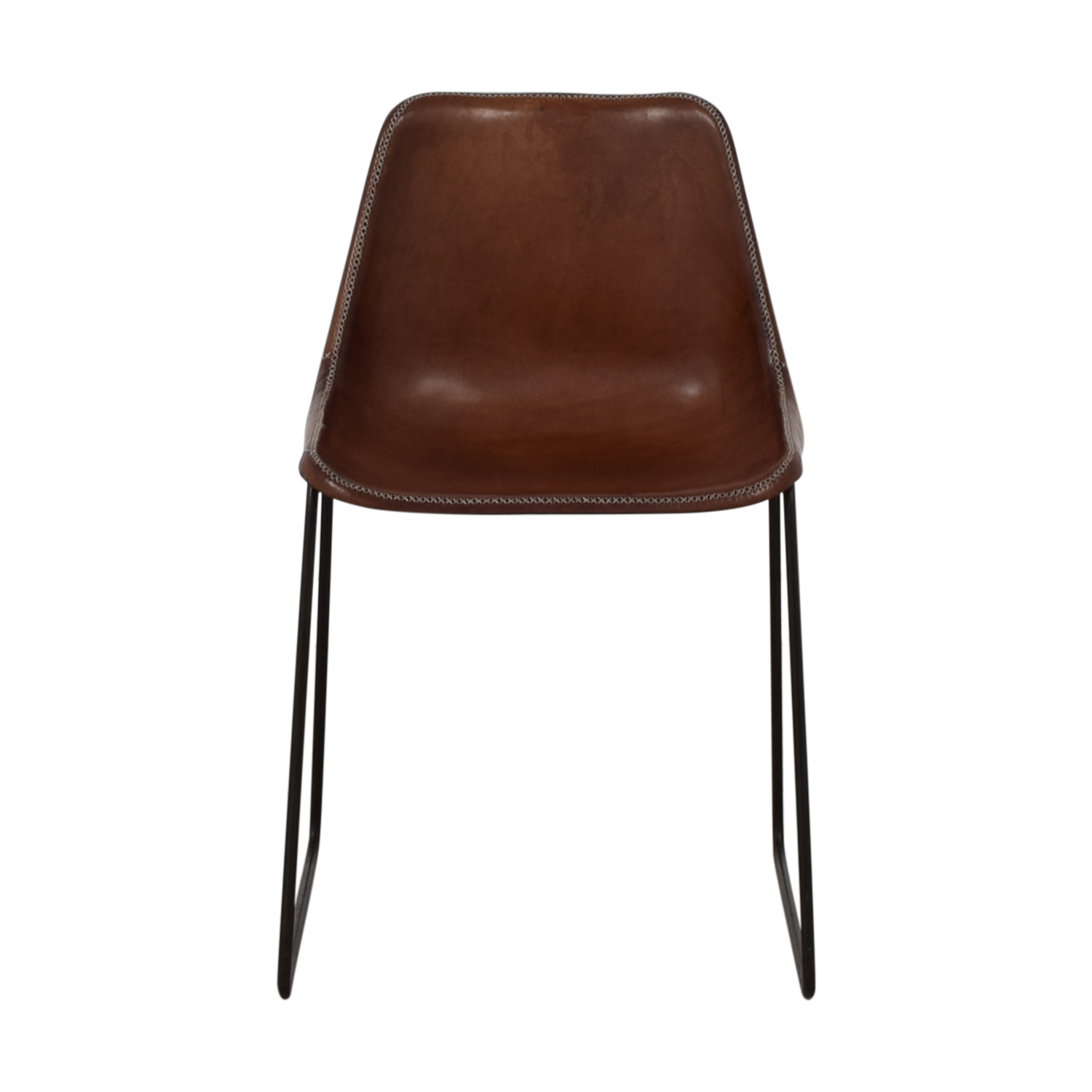 shop ABC Carpet & Home ABC Carpet & Home Giron Brown Leather Chair online
