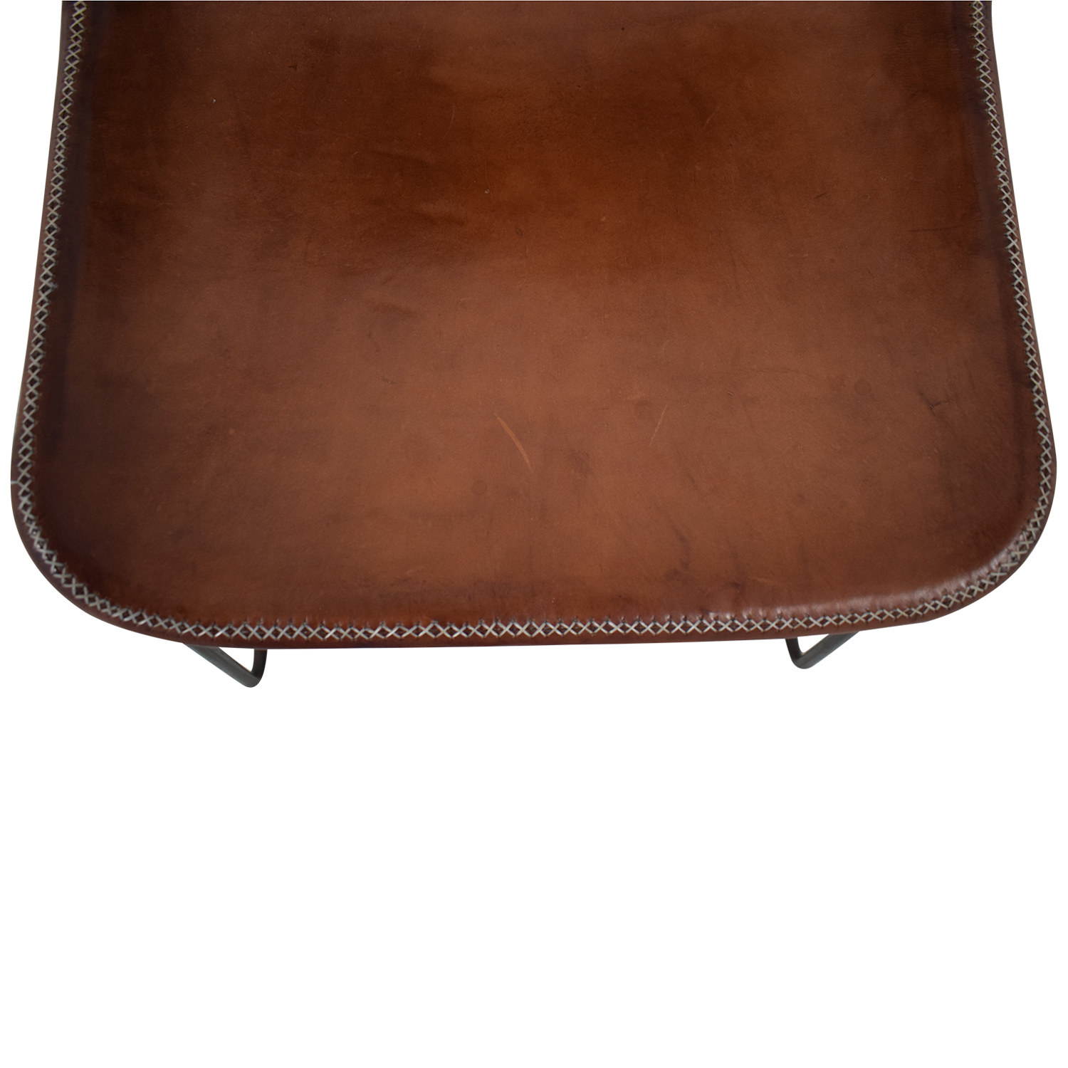 ABC Carpet & Home ABC Carpet & Home Giron Brown Leather Chair second hand